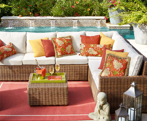 Pier One Outdoor Seat Cushions - Angelique