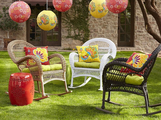 Pier One Outdoor Wicker Chairs