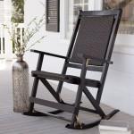 Outdoor Folding Rocking Chair Black