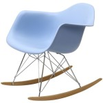 Outdoor Folding Rocking Chair Blue