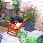 Outdoor Folding Rocking Chair Fireplace