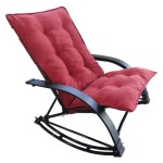 Outdoor Folding Rocking Chair Red