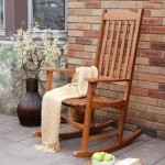 Outdoor Folding Rocking Chair Rustic