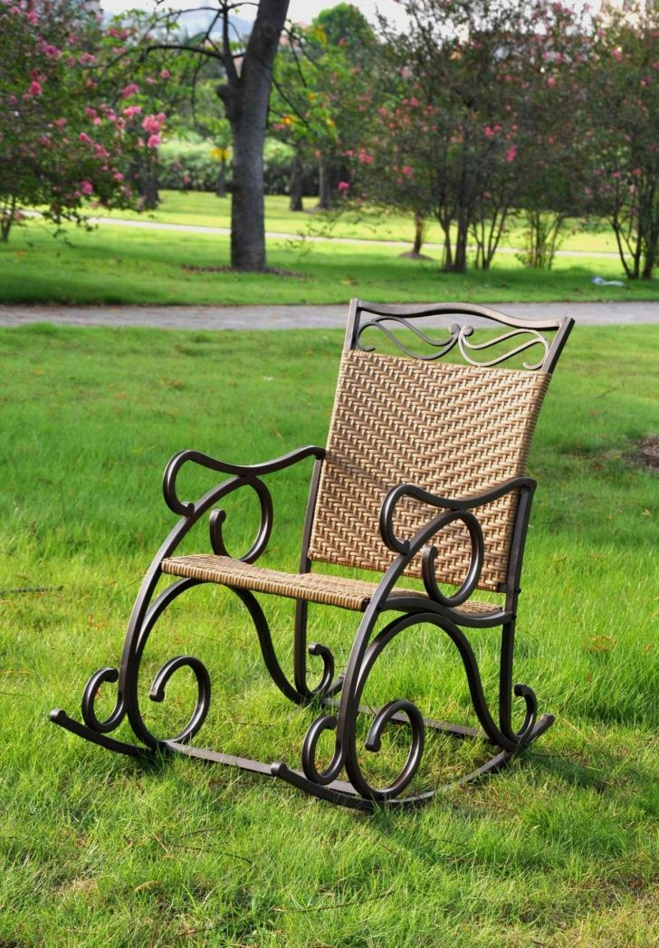 Outdoor Folding Rocking Chair Steel