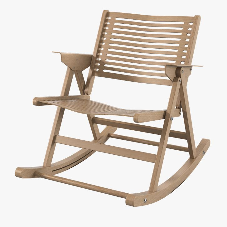 Outdoor Folding Rocking Chair Wooden