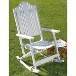 Outdoor Folding Rocking Chair White