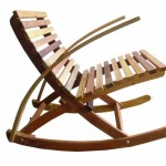 Outdoor Folding Rocking Chair Wood