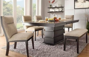 Dining Room Table with Bench and Chairs UK