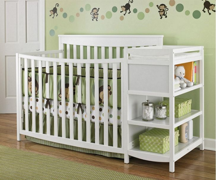 White Nursery Furniture Sets with Storage Cabinet