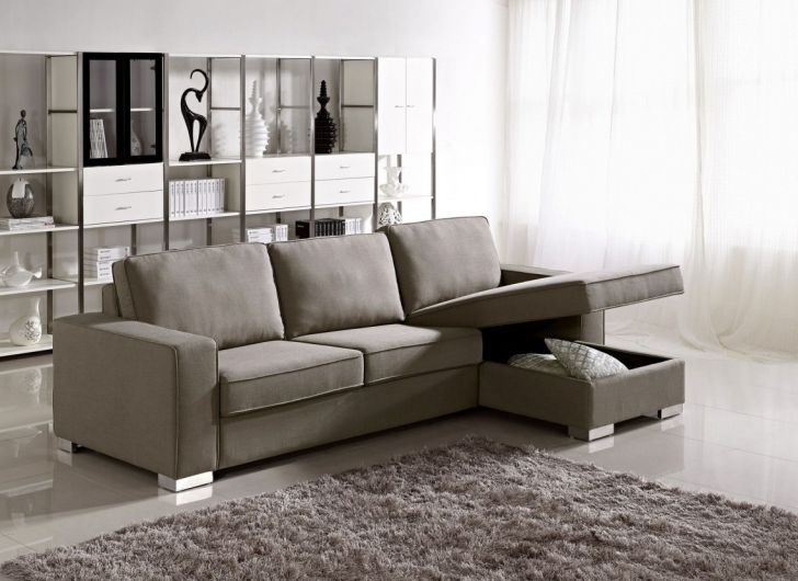 Apartment Size Sofa Fabric Bed Storage Sectional