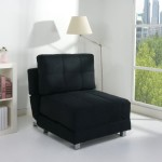 Comfy Chairs for Bedroom Furniture Cool Black Fabric Single Armless