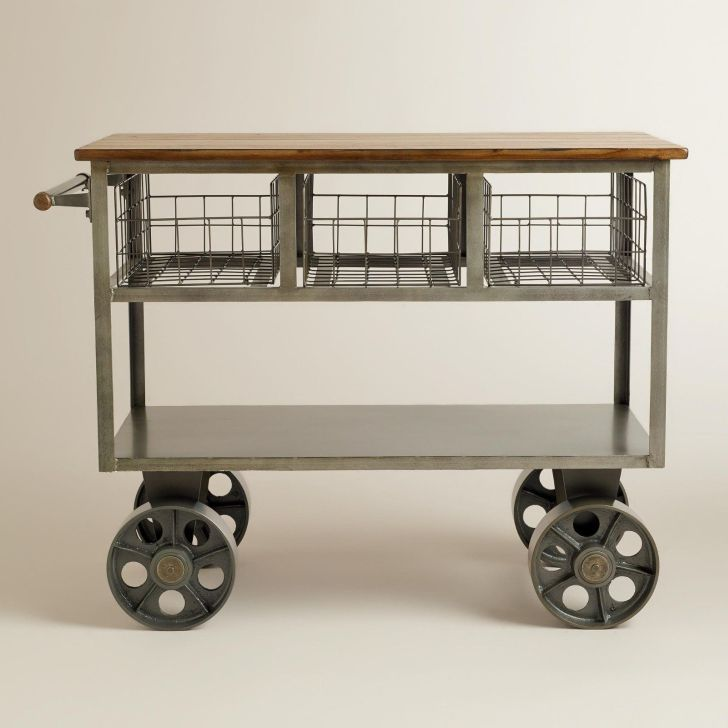 Kitchen Carts On Wheels Stainless Trolley Homes Furniture Ideas