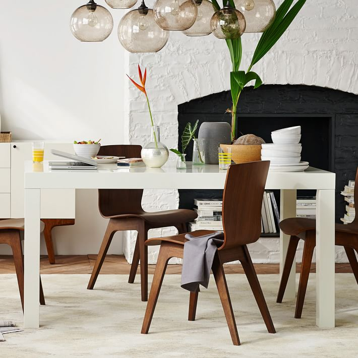 Narrow Rectangular Dining Table: Parsons Dining Table Rectangle