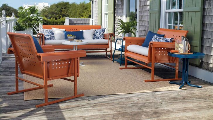 Retro Metal Patio Furniture Outdoor
