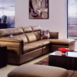 Sectional Sofas For Small Spaces with Contemporary Brown Leather