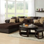 Sectional Sofas for Small Spaces L Shaped Design with Brown Leather