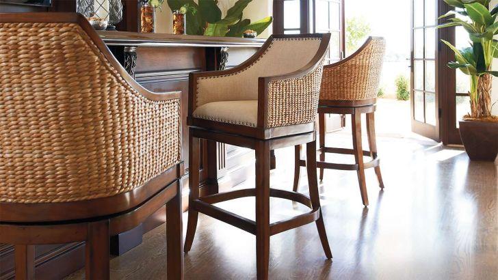 Swivel Bar Stools with Backs Upholstered