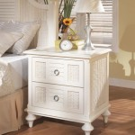 White Wicker Bedroom Furniture Antique French Bedside