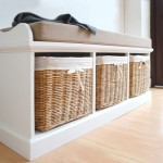 White Wicker Bedroom Furniture Bench with Storage