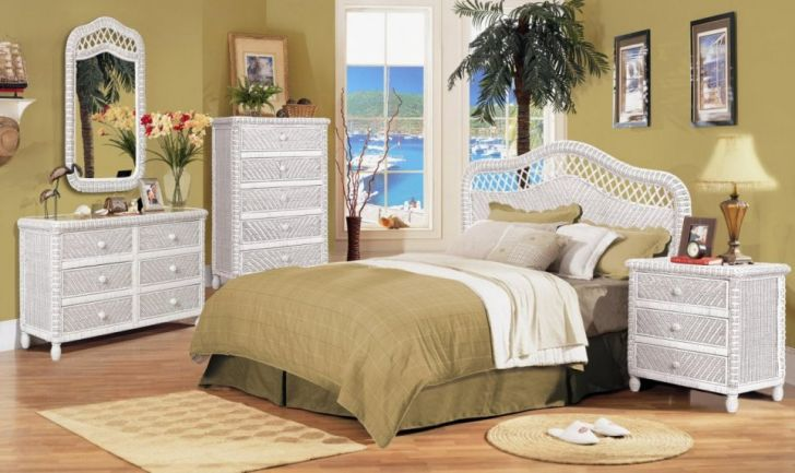 White Wicker Bedroom Furniture Collections