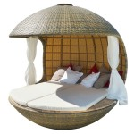White Wicker Bedroom Furniture Daybed Ideas in Circle Shapes