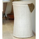 White Wicker Bedroom Furniture Tall Laundry Basket