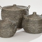 Wicker Bathroom Furniture Large Storage Baskets