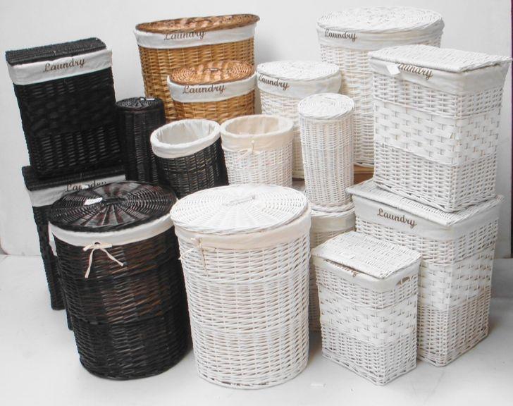 Wicker Bathroom Furniture Laundry Basket