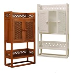 Wicker Bathroom Furniture Space Saver Cabinet
