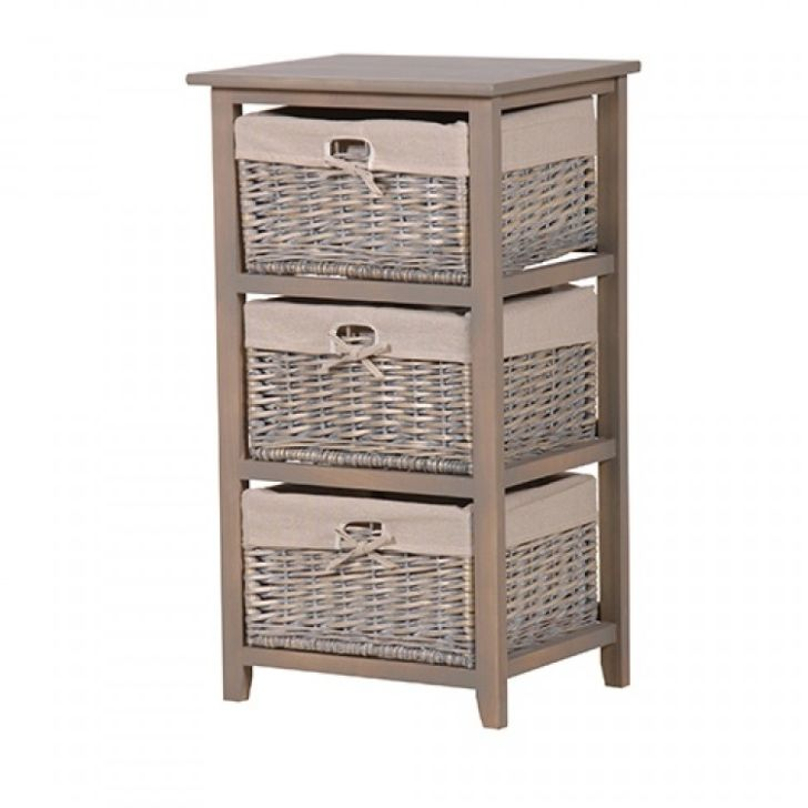 Wicker Bathroom Furniture Storage Cabinet