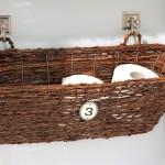 Wicker Bathroom Furniture Tissue Basket
