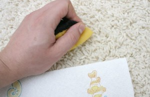 How to remove spray paint from carpet