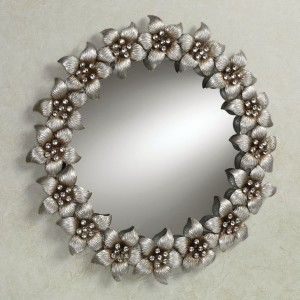Blooming Jewels Wall Mirror Silver
