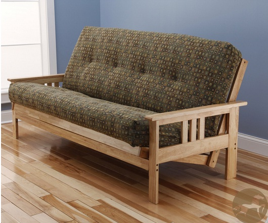 Christopher Knight Home Multi-Flex Natural Wood Futon Using Chenille of Textile Material