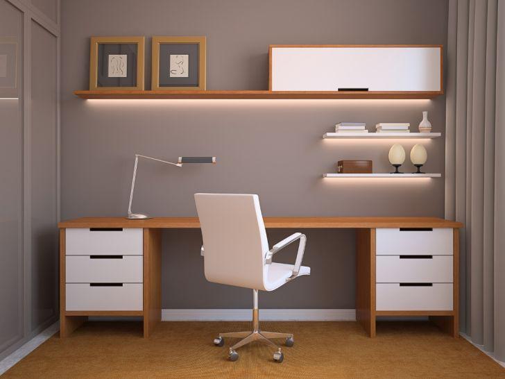 Home Office Lighting LED Desk Lamp Under Open Shelves