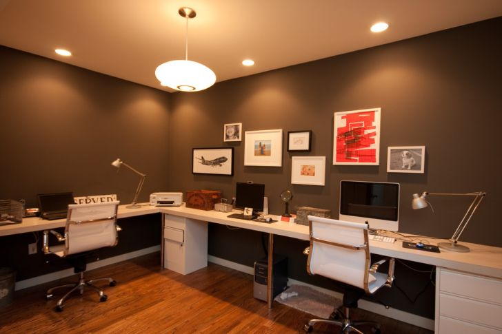 Home Office Lighting With Oval Pendant Lighting And Recessed Lighting Fixtures