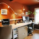 Home Office Lighting With Track Lighting Fixtures Mounted In The Wall
