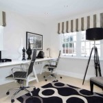 Home Office Lighting with Chrome Desk Lamp and Tripod Floor Lamp