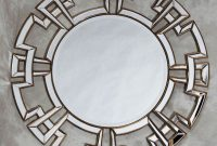 Large Silver Bronze Aztec Mirror with Decorative Frame Myan Gold