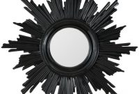 Sunburst Mirror Finished In Black Lacquer