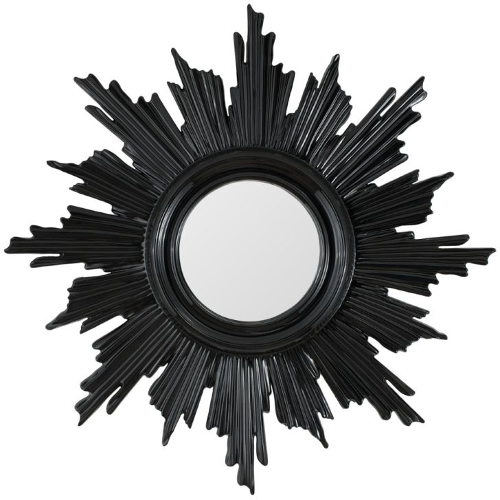 Sunburst Mirror Finished In Black Lacquer
