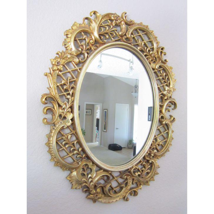 Vintage Decorative Mirror Large Framed