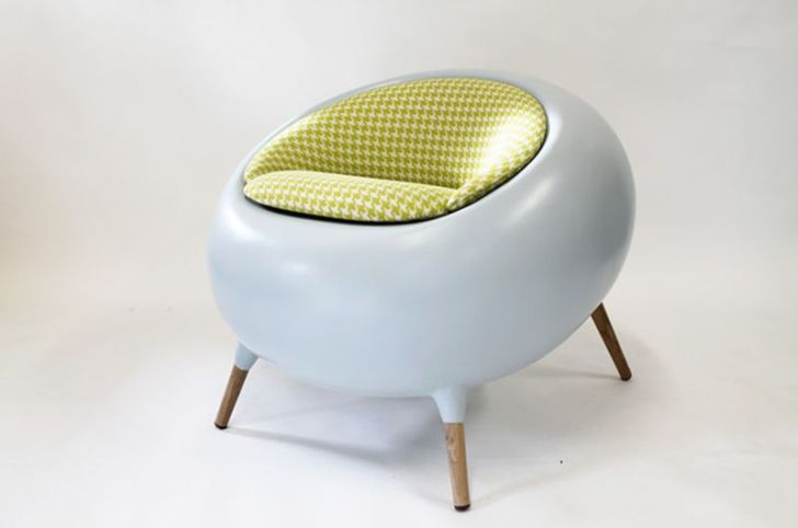Acari Modern Chair with Fiberglass  Cloth Cushions