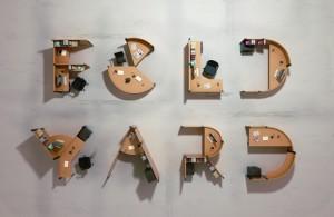 Fold Yard Open Office System by Benoit Challand