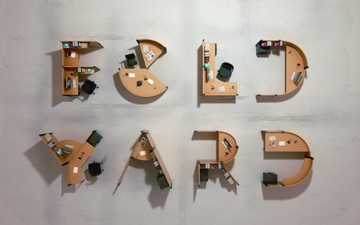 Fold Yard Open Office System by Benoit Challand