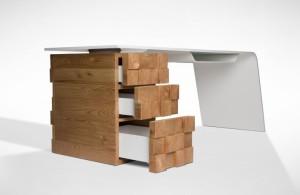 High Tech Office Desk Katedra by Desnahemisfera