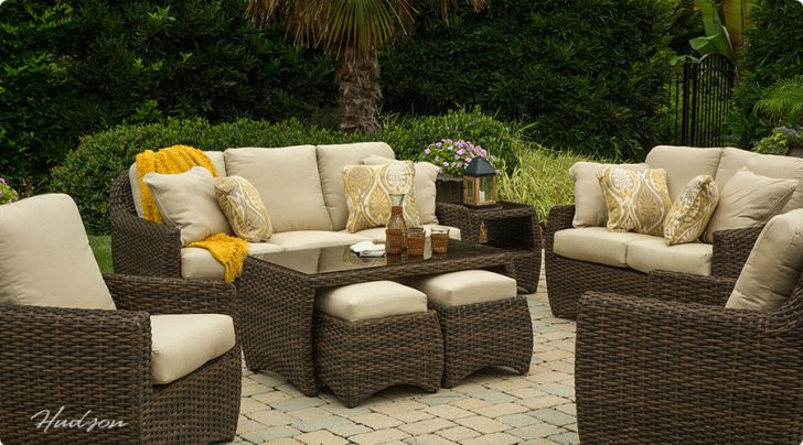 Agio wicker patio furniture replacement cushions hudson - Replacement cushions for wicker patio furniture ...