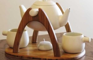 Beautiful Wooden Tea Set - Tea for Two