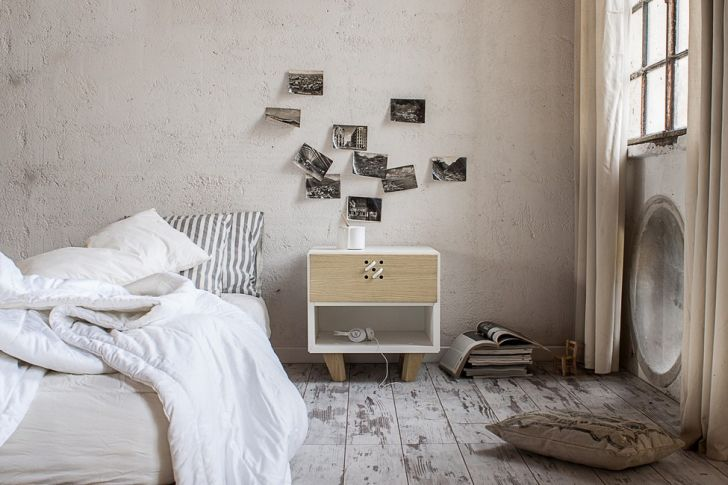 NODO Bedside Table by Andrea Brugnera