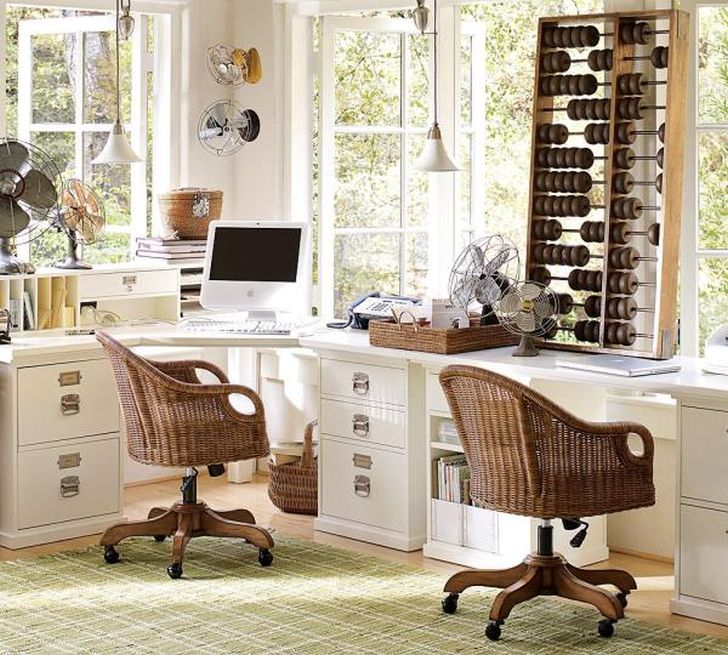 Wingate Rattan Swivel Desk Chair